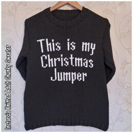 Intarsia - This is my Christmas Jumper - Chart Only