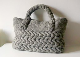 Grey Cable Tote Bag