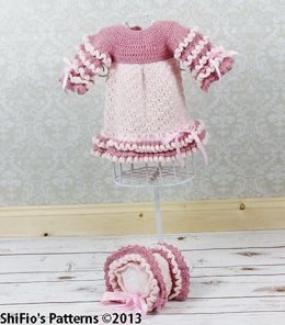 Amelia Ruffle Dress Crochet pattern #142