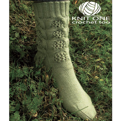 Bamboo Baskets Socks by Knit One Crochet Too Pediwick - 1732 - Downloadable PDF