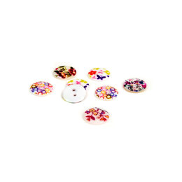 Rico Mother Of Pearl Floral Button Mix 1