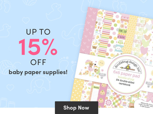 Up to 15 percent off baby paper supplies!