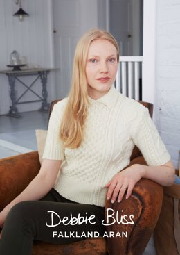 """Celia Jumper"" - Jumper Knitting Pattern For Women in Debbie Bliss Falkland Aran - DBS029"
