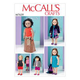 McCall's Clothes for 18 Dolls M7639 - Paper Pattern Size One Size Only