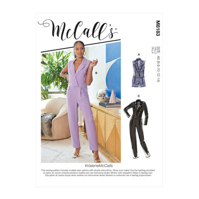McCall's Misses' Jumpsuits M8183 - Sewing Pattern
