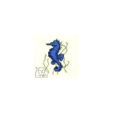 Mouseloft Stitchlets - Seahorse Cross Stitch Kit - 64mm