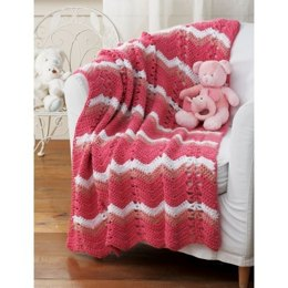 Striped Blanket in Patons Beehive Baby Chunky