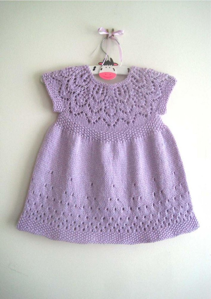 Knitting Dress Patterns For Babies : Evie dress knitting pattern by suzie sparkles