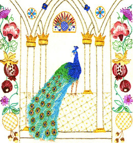 Rajmahal The Peacock Embroidery Kit - 21 x 24 cm