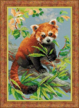 Riolis Red Panda Cross Stitch Kit - 25cm x 25cm