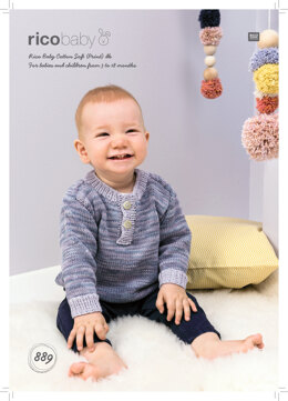 Sweater in Rico Baby Cotton Soft DK & Baby Cotton Soft Print DK - 889 - Downloadable PDF