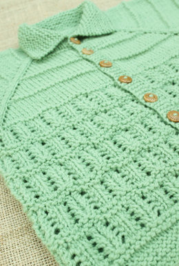 Heirloom Baby Cardigan in Imperial Yarn Tracie Too - F03 - Downloaded PDF