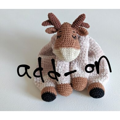 ADD ON Sleepy Reindeer and Moose Comforter