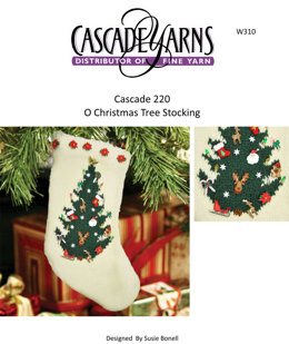 O Christmas Tree Stocking in Cascade 220 - W310