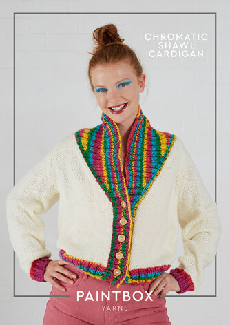 Chromatic Shawl Cardigan - Free Knitting Pattern For Women in Paintbox Yarns Chunky & Chunky Pots