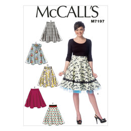 McCall's Misses' Skirts M7197 - Sewing Pattern