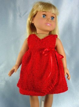 All Occasion Wrap Dress and Shrug, Knitting Patterns fit American Girl and other 18-Inch Dolls