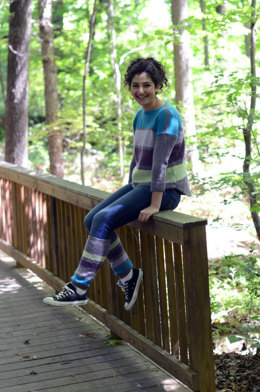 Four Stripes Pullover and Leggings in Universal Yarn Merino XF Superwash