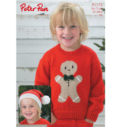 Ginger Bread Sweater and Hat in Peter Pan DK 50g - 1173