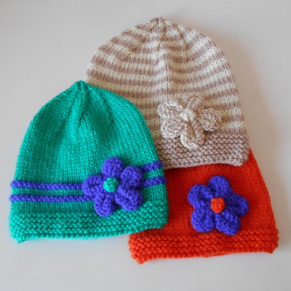 Baby Beanie - Easy Knitting pattern by Spook Designs