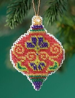 Mill Hill Beaded Holiday - Crimson Cloisonne Beaded Ornaments