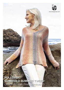Pullover  in Lana Grossa Gomitolo Summer Tweed - 11 - Downloadable PDF