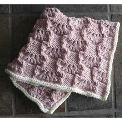 93 Wavy Lace Squares Baby Blanket Knitting Pattern By Sweaterbabe