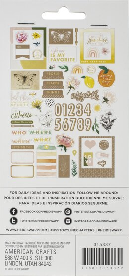American Crafts Heidi Swapp Storyline Chapters Ephemera Cardstock Die-Cuts - W/Gold Foil Accents