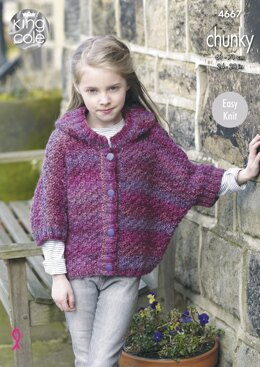 Ponchos in King Cole Chunky - 4667 - Downloadable PDF