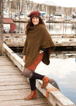 Crochet Poncho With Cowl Neck