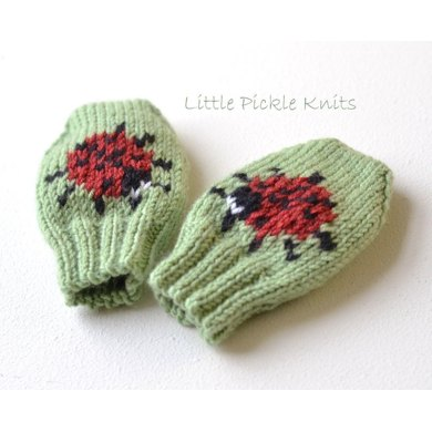 Baby Mittens Little Ladybird Knitting Pattern By Little Pickle Knits