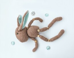 Beads jointed Bunny doll