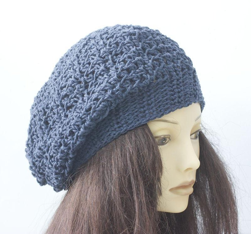 Simple Cotton Beret Crochet Pattern By Judith Stalus