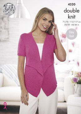 c24472929 Waterfall Cardigans in King Cole Cottonsoft DK - 4520