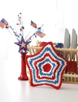 Stars and Stripes Dishcloth in Lily Sugar 'n Cream Stripes
