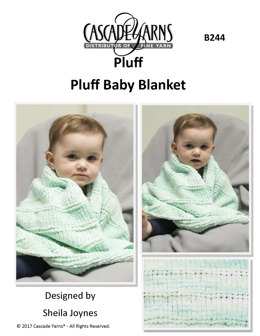 Pluff Baby Blanket in Cascade Yarns Pluff - B244 - Downloadable PDF