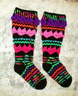 Hearts And Posies For the Tosies  Knee Socks