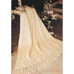 Aran Crochet Blanket in Patons Canadiana