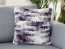 Garter Ridge Pillow in Bernat Alize Blanket-EZ - Downloadable PDF