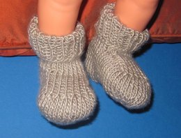 Baby Silver Silk Boots