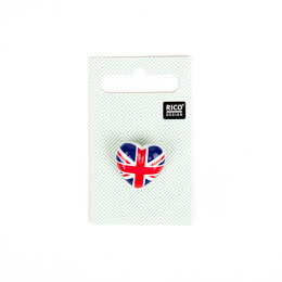 Rico Button Heart British Flag