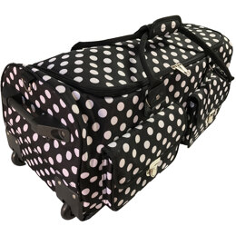 CGull Rolling Craft Machine & Supply Bag 2.0 - Black With White Polka Dots