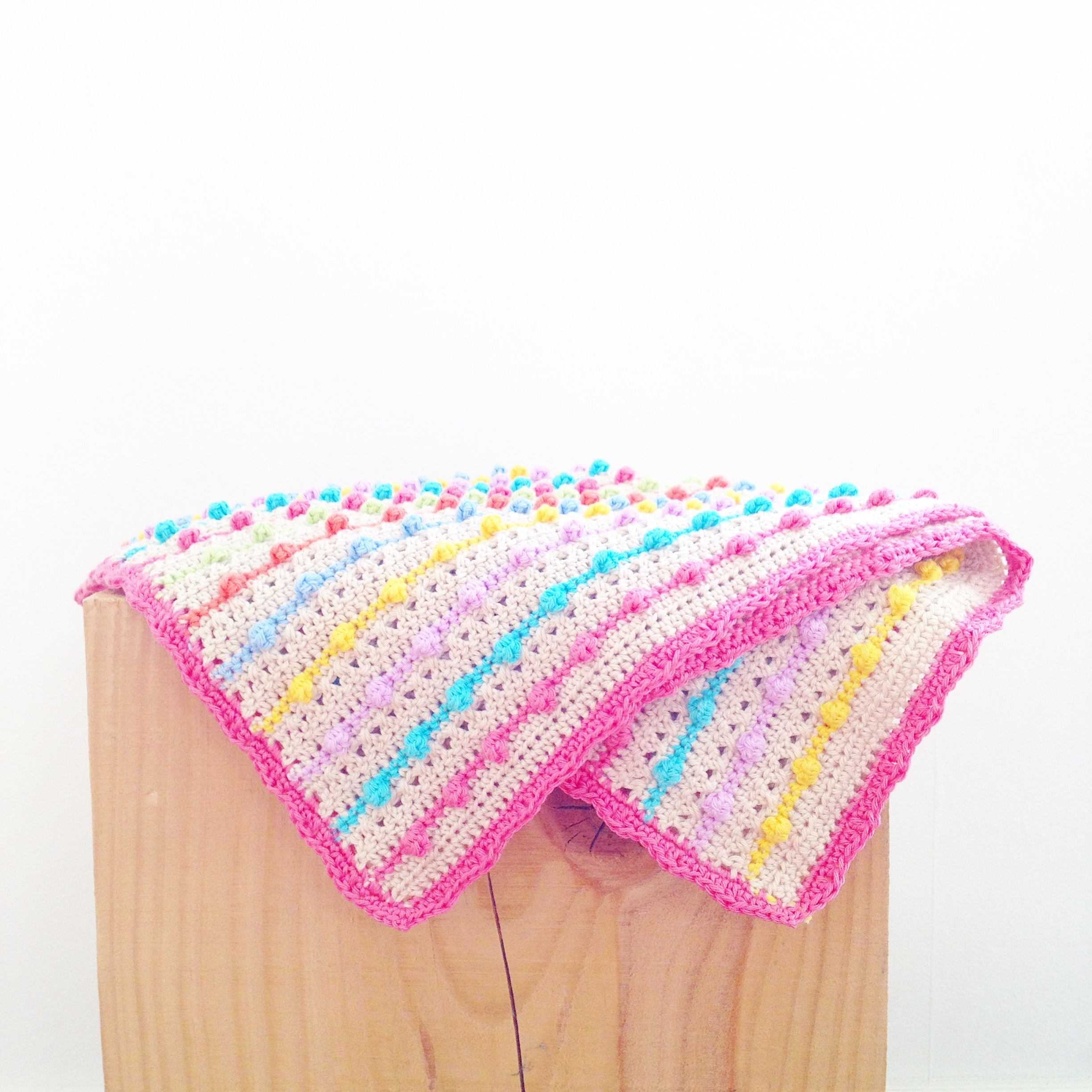 Bobble Stitch Blanket crochet project by Annemarie LoveKnitting