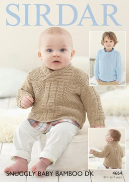 Sweaters in Sirdar Snuggly Baby Bamboo DK  - 4664- Downloadable PDF