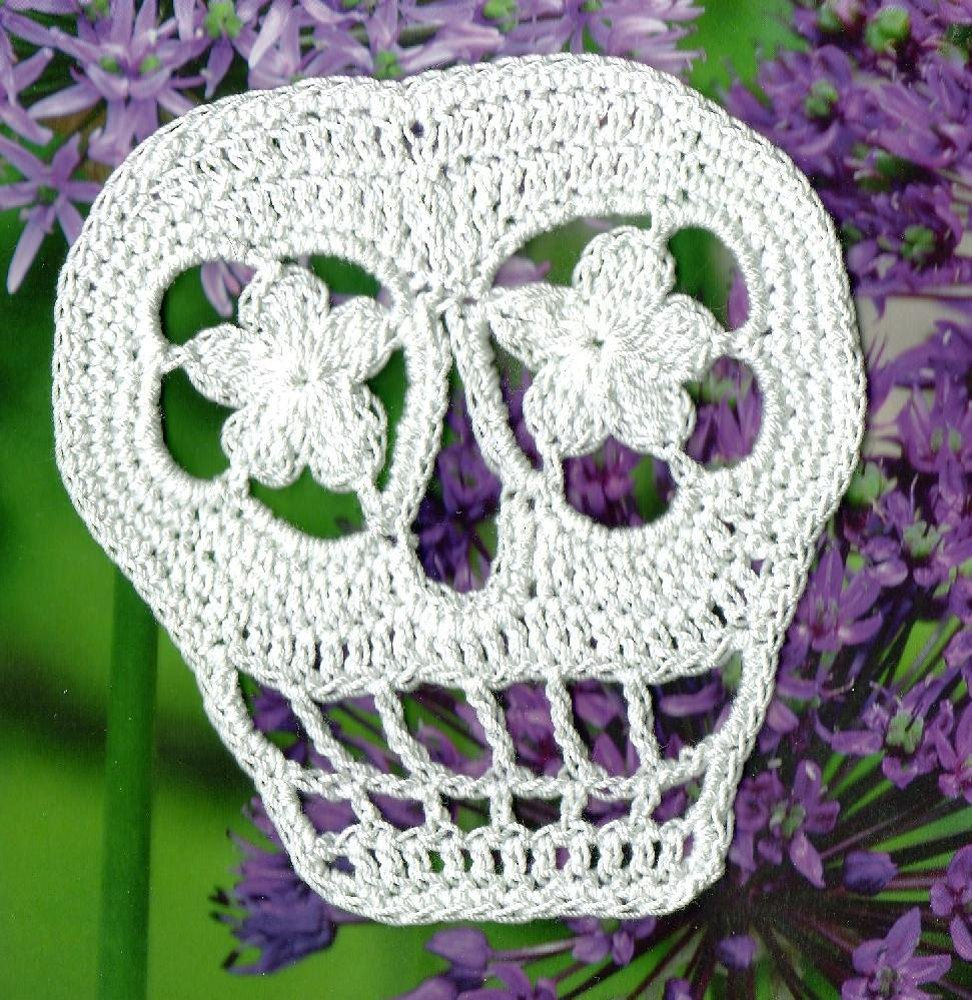 Free Knitting Pattern Of The Day : Vera Revised Day of the Dead Sugar Skull Crochet pattern by Spider Mambo Kn...