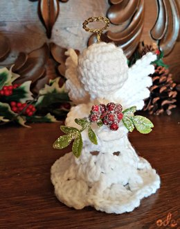 Mistletoe Christmas Angel Ornament