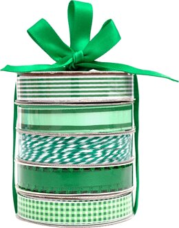American Crafts Premium Ribbon & Twine 5/Pkg - Green