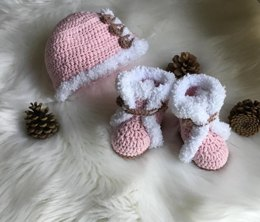 Baby Boot & Hat Set N 290