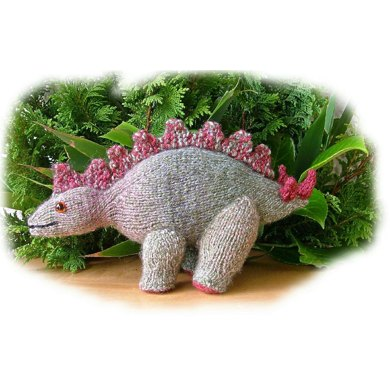 Stegosaurus toy dinosaur knitting pattern by Georgina Manvell