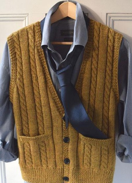 Ml186 Men S Best Vest Knitting Pattern By Maddycraft